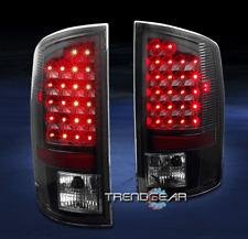2002-2006 DODGE RAM 1500/2003+ 2500/3500 TRUCK LED TAIL BRAKE LIGHTS LAMPS BLACK