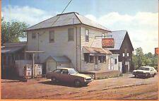 1960s Canadian general store w/ Pepsi & Shell gas postcard - Burridge Ontario