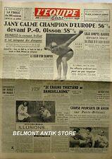 Journal l'Equipe n°436 - 1947 - Jany champion d'Europe - Lille Baratte - Heinkel