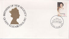 1982 Birthday of Her Majesty Queen Elizabeth II FDC - Young NSW 2594 PMK