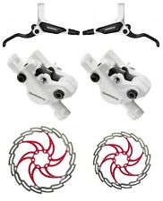 Shimano br-m 395 freno de disco blanco vr203 & hr180 mm set-XLC Tektro disc rojo