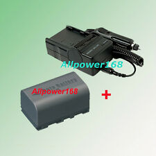 Battery + Charger for JVC BN-VF815U BN-VF815 BNVF815U GZ-HD3 GZ-HD3U GZ-HD3US