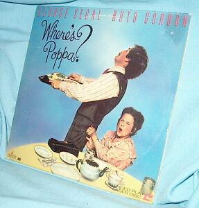 LD Laserdisc WHERE'S POPPA George Segal & Ruth Gordon Trish Van Devere