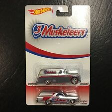 Hot Wheels 3 Musketeers '55 Chevy Panel & '70 Chevelle Delivery with Real Riders