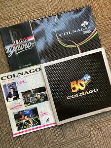 COLNAGO 50 years book +  2005 catalogue + 40 year catalogue + Campagnolo 2001