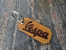 Vespa scooter leather key ring, motorcycle biker Key chain, Keyring fob, 209