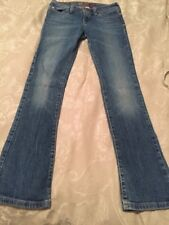 GIRLS ABERCROMBIE KIDS CUTE STRETCH JEANS PANTS FADED Sz 14 SLIM VGUC