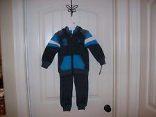 New! U.S. Polo Assn. Boys Turquoise Multi-Color 2 Piece Jog Set Size 5/6