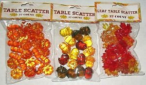 FALL AUTUMN TABLE SCATTER ASSORTMENT [Your Choice]