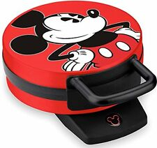 New Disney Mickey Mouse Non Stick Electric Waffle Maker Red And Black