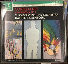 John Corigliano: Symphony No. 1 CD, Jun-1991, Erato Chicago Symphony Barenboim