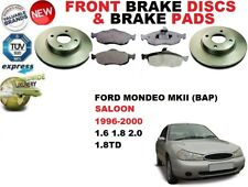 FOR FORD MONDEO MKII SALOON MK2 FRONT BRAKE DISCS SET + BRAKE PADS KIT