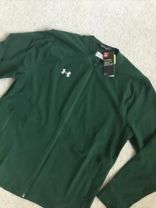 🔥$90 NWT UNDER ARMOUR STORM FULL ZIP COACHES JACKET MENS L GREEN