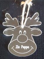 RENNA DI NATALE personalizzata con nome Decorazione albero di Natale SEGNAPOSTO
