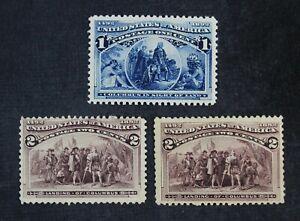 CKStamps: US Stamps Collection Scott#230 Mint H OG #231 Mint 1LH OG 1NG