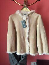 ALBERTA FERRETTI Genuine Shearling Jacket Leather - Giacca montone NEW