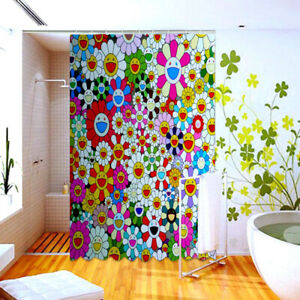 Waterproof 60x72 Inch Shower Takashi Murakami Bath Decor
