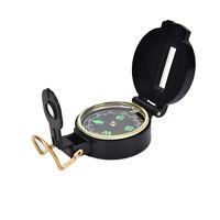 Metal Lensatic Compass militaire Camping randonnée armée style survie marche