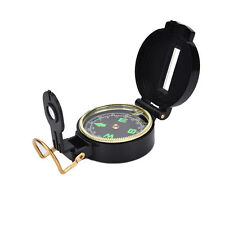 Metal Lensatic Compass Military Camping Hiking Army Style Survival Marching JX