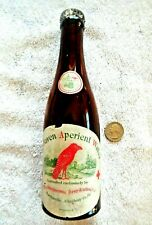 """Old quack medicine bottle """"RED RAVEN APERIENT WATER"""" Duquesne Harmarville, Pa."""