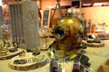 Antique Boston Deep Sea Scuba Navy Brass Divers Diving Helmet Morse Model Marine
