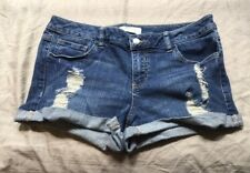Women's 2.1 Denim Forever 21 Distressed Jean Shorts Size 30 (C2)