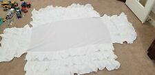 Pottery Barn Kids White Ruffle Crib Bed Skirt