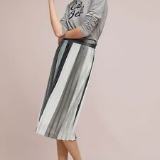 $118  Anthropologie Sunburst Pleated Midi Skirt  XL