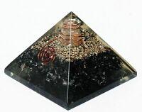 Extragroßer Schwarzer Turmalin Orgonit 70-75Mm Orgon Edelsteinpyramide X-Groß