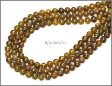 """15.6"""" Green Garnet Grossular Round Beads 4mm #67060"""
