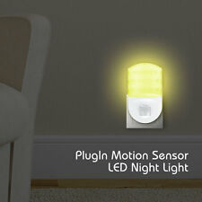 Plug In PIR Motion Sensor Hallway Home Socket Warm LED Night Light Baby Safety