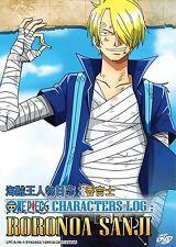 DVD Anime One Piece Characters Log : Roronoa Sanji *ENGLISH SUB* + Free Shipping