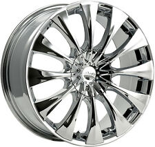 4-NEW Pacer 776C Silhouette 17x7.5 5x108/5x114.3 +42mm Chrome Wheels Rims