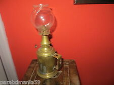 La  parisienne-Ancienne lampe de sureté en cuivre-Estampillée-Complète