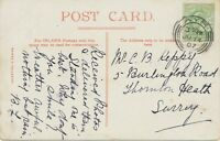 "GB SCOTTISH VILLAGE POSTMARKS ""AYR / 1"" very fine strike (24mm) pc 1907"