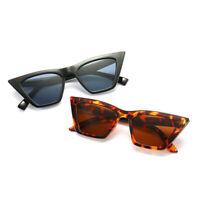 Womens Sunglasses Cat Eye Full Rim Plastic Vintage Retro Glasses