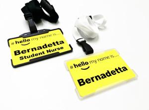 Hello My Name is ID Card Holder & Lanyard Badge Carer Paramedic PA Neonatal A&E
