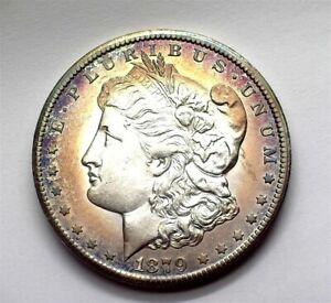 1879-CC MORGAN SILVER DOLLAR CHOICE UNC CAPPED DIE NICE TONING!! RARE THIS NICE!