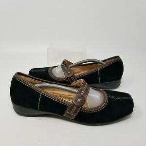 Naturalizer Black Suede Slip On Low Walking Mary Jane Shoes Women Size 8 M