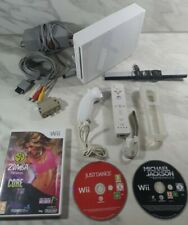 Nintendo Wii RVL-001 Console - White - Excellent Condition with 3 Games