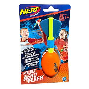 Hasbro Nerf Sports Pocket Aero Flyer (Orange) Toy Football Throw NEW Free Ship