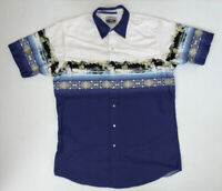 Vintage Cumberland Outfitters Short Sleeve Pearl Snap Western Shirt Size Large