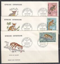 Central African Rep 142-6 FDC - 1971 Animals Issue