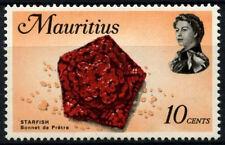 Mauritius 1972-4 SG#441a 10c Marine Life Definitive MH Chalk Paper #D29984