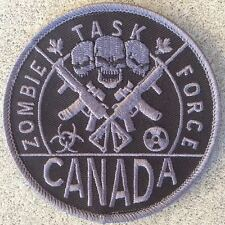 "ZOMBIE TASK FORCE CANADA - 3.5"" with hook backing"