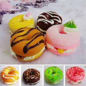 1pc 6x4cm Donut Bread Fake Food Toy Bakery Display Props Decor Random New