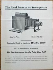 Stereopticon Lantern/Projector 1910 Advertising Catalog/Brochure - Stereoview