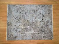 """8'x10'1"""" HandKnotted Silk With Oxidized Wool Transitional Rug G40857"""