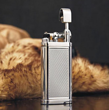 Vintage Windproof Metal Pipe Flame Gas Lighter Inflatable gift  collection