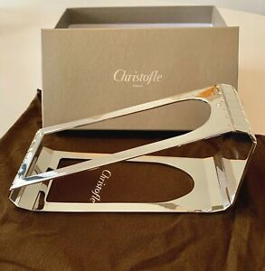Christofle Graphik Silver Plated Wine Stand - Brand New
